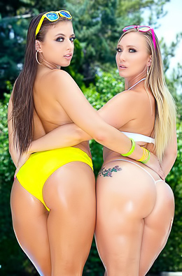 AJ Applegate And Gia Derza Big Butts Show